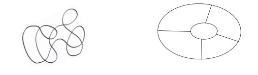 Un problema tipico della topologia chiede di stabilire se un piano, suddiviso in regioni da una o più curve, si può colorare usando solo due colori
