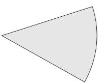 Settore circolare: attaccando i due raggi si ottiene la superficie laterale del cono.