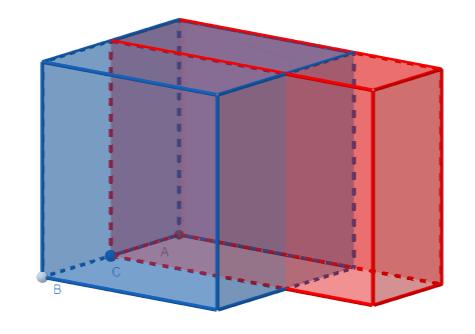 Un cubo di spigolo s e un parallelepipedo di spigoli s-k, s e s+k