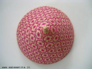 Il coperchio di un vassoio, a forma di cono.