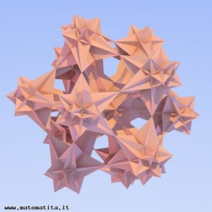 Una sezione tridimensionale di un politopo regolare stellato