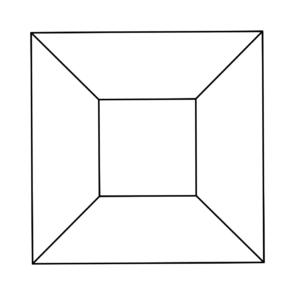Proiezione stereografica di un cubo