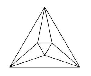Proiezione stereografica di un ottaedro