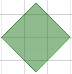 Un quadrato disegnato con i lati non paralleli alle linee della quadrettatura è pur sempre un quadrato - Problema di geometria - Uguaglianza