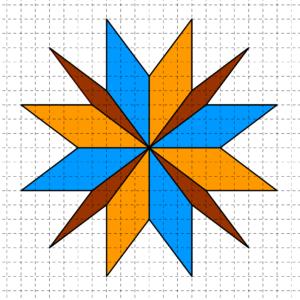 Rombi costruiti su carta quadrettata, aventi tutti i lati di cinque quadretti e un vertice in comune - Problema di geometria - Uguali o diversi?