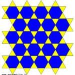 Una tassellazione uniforme in cui in ogni vertice arrivano, in questo ordine: un triangolo equilatero, un esagono regolare, un triangolo equilatero, un esagono regolare. Si può indicare con (3,6,3,6).