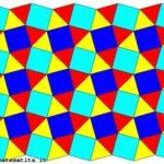 Una tassellazione uniforme in cui in ogni vertice arrivano, in questo ordine: un triangolo equilatero, un quadrato, due triangoli equilateri, un quadrato. Si può indicare con (3,4,3,3,4).