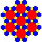 Una tassellazione uniforme in cui in ogni vertice arrivano, in questo ordine: un quadrato, un esagono regolare, un dodecagono regolare. Si può indicare con (4,6,12).