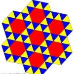 Una tassellazione uniforme in cui in ogni vertice arrivano, in questo ordine, quattro triangoli equilateri e un esagono regolare. Si può indicare con (3,3,3,3,6).