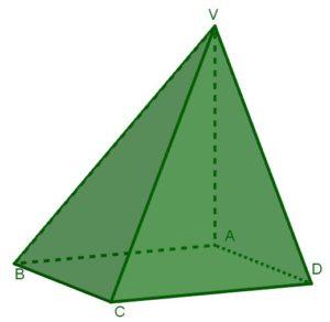 Disegno di una delle tre piramidi identiche che insieme formano un cubo