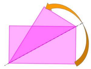 Piegando un foglio rettangolare lungo una diagonale, gli angoli opposti che non stanno sulla piega non vanno a sovrapporsi