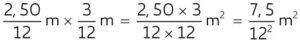 """L'area del lenzuolo lillipuziano si trova moltiplicando tra loro le misure dei suoi lati, che sono ciascuna 1/12 del lato del lenzuolo """"umano"""". Se invece di eseguire le divisioni moltiplichiamo tra loro i due denominatori, otteniamo l'area del lenzuolo """"umano"""" divisa per 144, che è il quadrato di 12 e che è il rapporto tra le aree dei due lenzuoli simili."""
